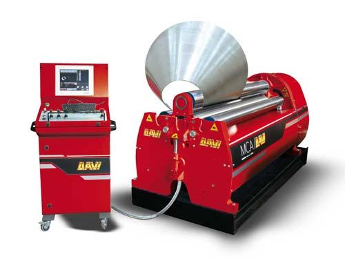 DAVI MCA 4-Walzen-Blechrundbiegemaschine